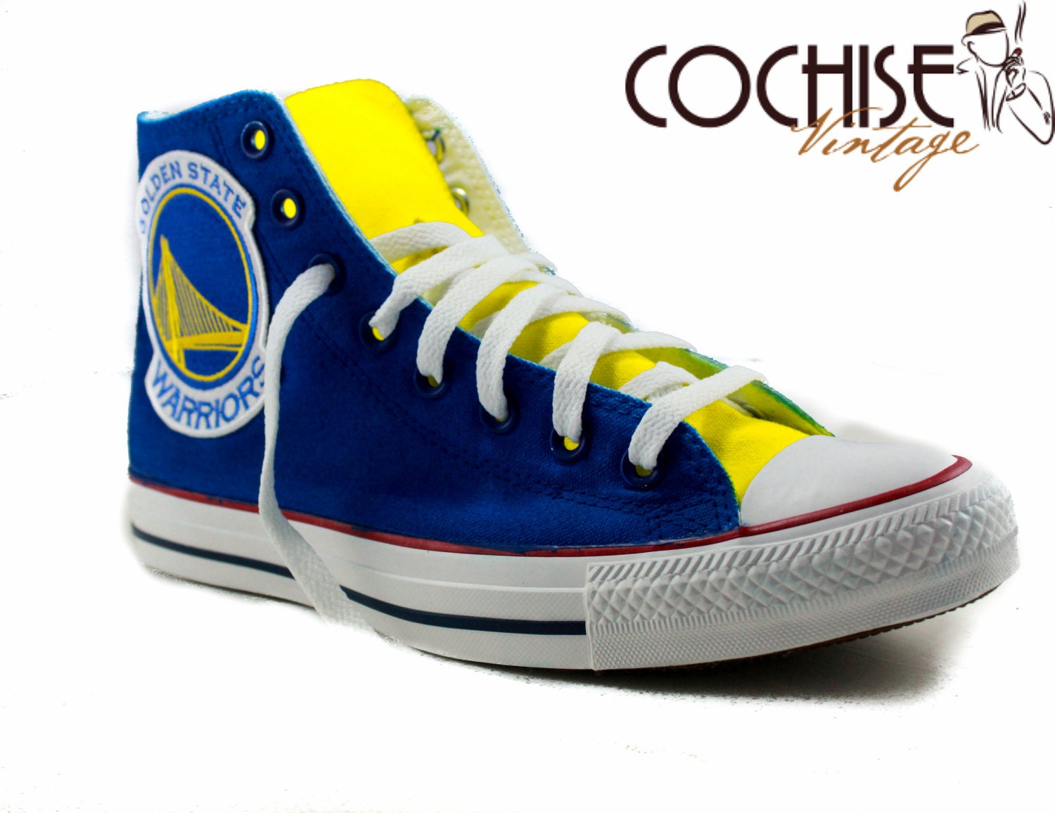 Golden State Warrior Custom Airbrush Converse By