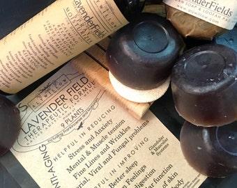 LAVENDER FIELDS Therapeutic Plant Formula Skincare    9 plants (lavender/frankincense)    100% Vegan    anti-aging    reduce stress