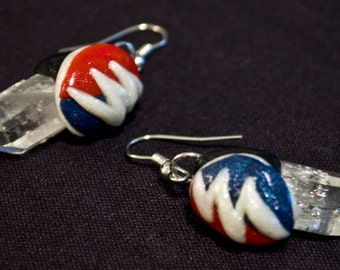 Crystal Steal Your Face Earrings