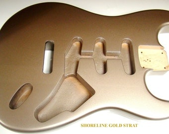 Solid Alder Replacement Body For Fender® Stratocaster® - Shoreline Gold