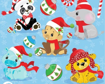 Baby animals clipart etsy for Christmas pictures of baby animals