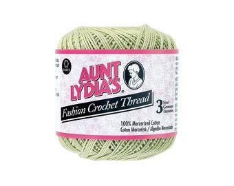 LIme Crochet Thread size 3, Aunt Lydias Fashion, MoonDancer Crafts, Lime Crochet Knitting Tatting Craft thread
