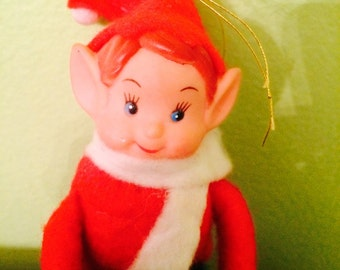 Holiday Christmas Pixie Elf Knee Hugger Ornament