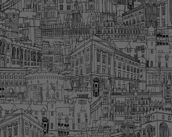 Makower Inprint Queen's 90th birthday range London Streets 2159/S95