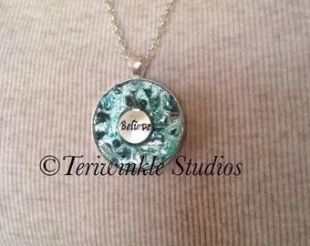 Caribbean Blue - Believe Mosaic Necklace