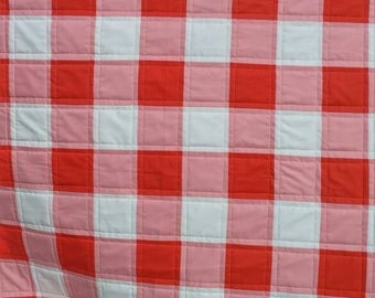 "Gingham Quilt Kits, measure 44"" x 52"""