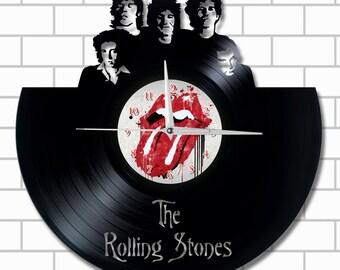 The Rolling Stones home decor wall vinyl clock unique gift