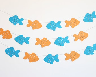 Fish Party Banner - Customizable Colors