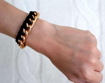 Braided Gold Chain Bracelet