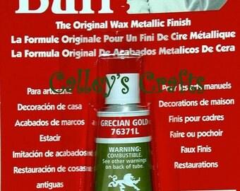 Amaco Rub 'N Buff Wax Metallic Finish ~ Grecian Gold 76371L Crafts Antiques etc