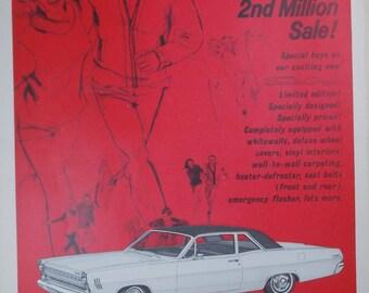 Vintage print ad from 1966 Mercury Comet