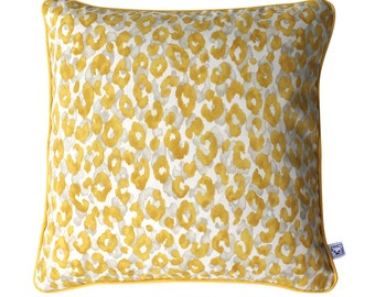 YELLOW KITTY Square Leopard Print Outdoor Cushion Pillow Cover