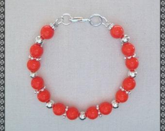 bright orange bracelet, orange, bright orange, orange bracelet