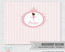 Little Ballerina Backdrop // Tutu Party Backdrop // Pink Ballerina Backdrop