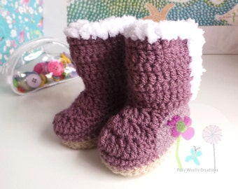 Baby Snugg Boots Mulberry Size 3-6 Months