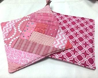 Pink Potholders - set of 2
