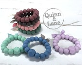 Silicone Teething Ring - Baby Toy - Silicone Beads - Teether Chewing Beads - Chew Jewelry Beads - Chew Toy Beads - Hexi Chic