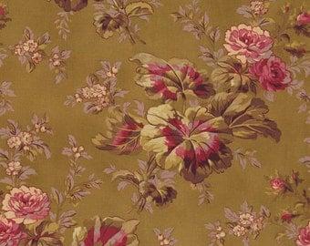RJR Fabrics Espirit Maison 2467 02 Large Brown Floral Yardage by Robyn Pandolph