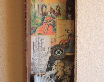 Gypsy Fortune Teller - Found Object Assemblage