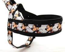 Norway harness with pattern Mickey Mouse. For IG sighthounds, pugs, bulldogs, Italian greyhound, maltipoo, poodle, whippet