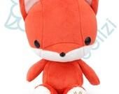 "Bellzi® Cute ""Orange"" w/ White Contrast Fox Plushie Doll - Foxxi"