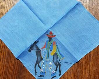 Vintage Embroidered Handkerchief  #45