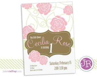 Rose Birthday Invitation