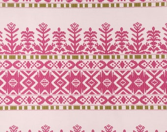 228057 Robert Allen Aztec City Fuchsia Fabric by the yard- 60% in Savings - by the yard