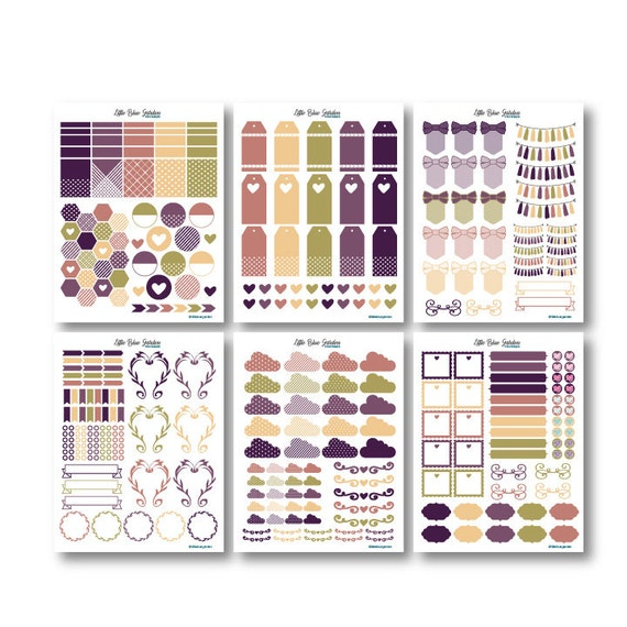 Harvest Moon Wedding Planner Kit PDF + JPG PRINTABLE Planner Stickers for Planners-Instant Download