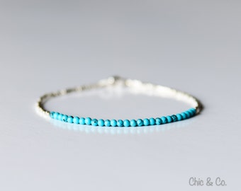 Turquoise Bracelet. Fine Silver and Turquoise Bracelet