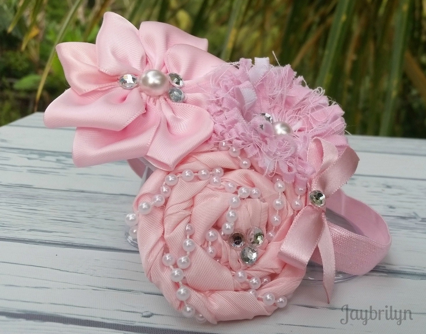 pink baby headband beautiful flower headband delicate pink baby headband beautiful flower headband delicate