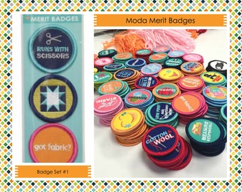 Sewing Merit Badges  - Camp Moda - Moda Fabrics - Merit Badges #1