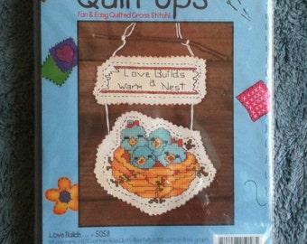 Vintage Candamar Designs Quilt Up Craft Kit Love Builds Kit 5058 Wall Decoration Wall Decor Desrdog Destash