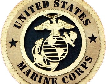 """Marine Corps plaque 10.5"""""""