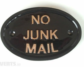 NO JUNK MAIL, house sign, letterbox