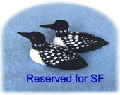 Reserved item for SF - Pair of Loons
