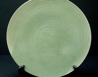 Ceramic platter, green platter, serving platter, porcelain platter, handmade, high fired