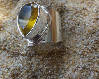 Sterling Silver and Citrine Ring......Size 8.25 only