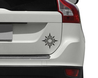 Tribal Spiky Mandala Car Decal for Cars, Trucks and Motorcycles