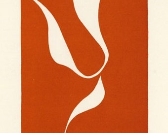 HENRI MATISSE - 'Skater in motion II' - original limited edition linocut - c1938 (Mourlot/Teriade, Paris)