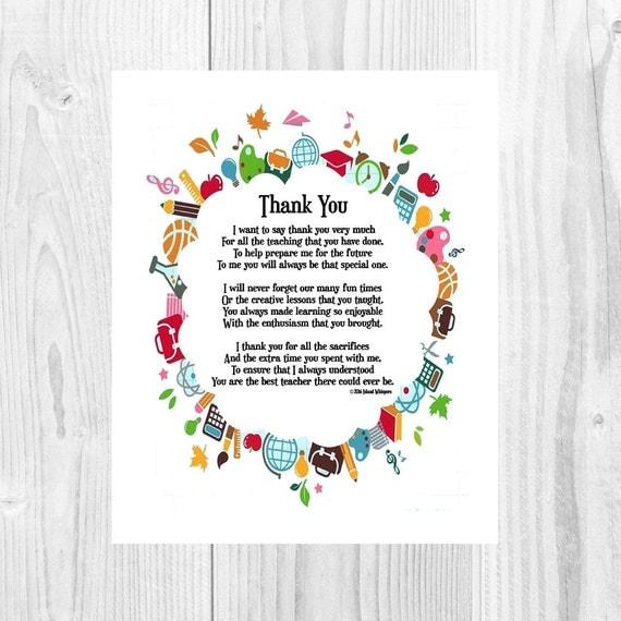 Teacher Appreciation Gift Preschool Teacher Teacher Print