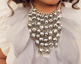 Plumed Crest Necklace