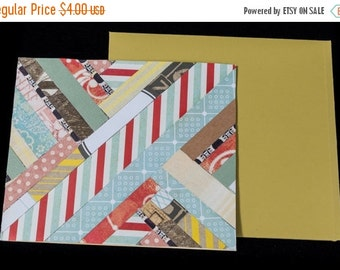 ON SALE - Herringbone Style Any Occasion Card