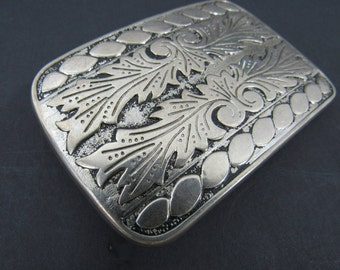 Vintage Silver Metal Belt Buckle