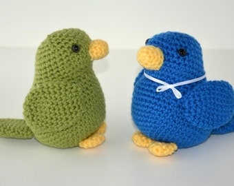 PATTERN: Colourful Bird Crochet Pattern - amigurumi, stuffed animal, bird