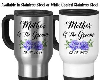 Travel Mug, Mother Of The Groom 003 Wedding Party MOTG Gift Grooms Party Mother Of The Groom Gift Wedding Mug, Stainless Steel, 14 oz