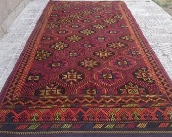 Turkish VİNTAGE kilim   cicim rug  142x65