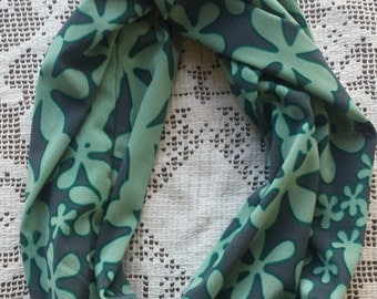 READY TO SHIP Ladies Double Infinity Lightweight Teal Scarf