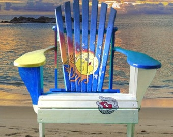 Painted Adirondack Chair - Sunrise Sunset
