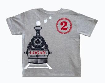 Train Birthday T-Shirt, Train Shirt, train birthday, train party, train party theme, train invite,  Boys Birthday, Train T-shirt, choo choo